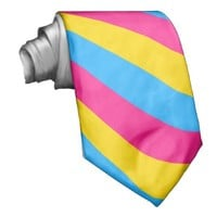 Pansexuality flag striped tie