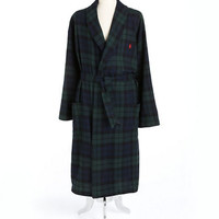 Polo Ralph Lauren Belted Plaid Cotton Robe