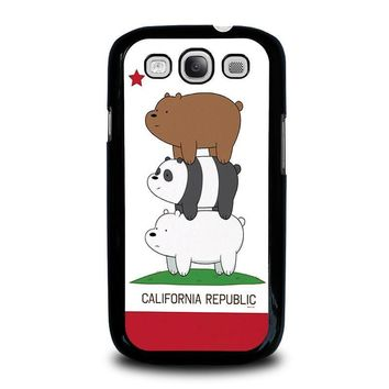 we bare bears california republic samsung galaxy s3 case cover  number 2