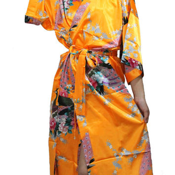 bridesmaids kimono robes Kimono Robe robes for bridal party Personalized Robes Cotton Maternity robe Bridesmaid  Monogrammed wedding satin