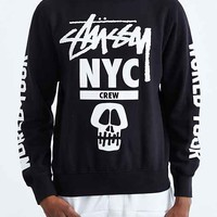 Stussy NYC Crew World Tour Sweatshirt- Black
