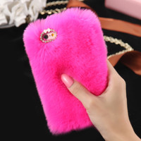 iPhone 6/6s Luxury Rabbit Fur Hair Case