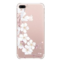 ONETOW iPhone 7 plus 5.5Inch Case iPhone 8 plus tpu cases tpu phone shell iphone 7 plus shockproof slim phone case I phone 7 plus shell design lightweight soft silicone gel tpu phone case iphone 7 plus