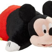"Pillow Pets Authentic Disney 18"" Mickey Mouse, Folding Plush Pillow- Large"
