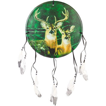 Deer Buck & Doe Profile Dream Catcher