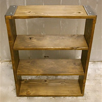 BOOKCASES: Made to Order of Recycled Steel and Reclaimed Wood, Bookshelf - 3 inch Angle Iron
