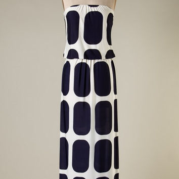 Navy Square Maxi Dress