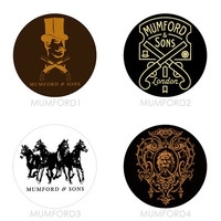 Mumford & Sons - Set of 4 - Sigh No More Babel Indie Folk Indie Rock Mumford and Sons Buttons Pins Badges Pinback