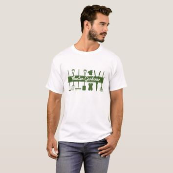 Master Gardener Simple Modern Forest Green T-Shirt
