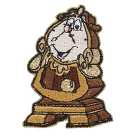 Disney Beauty And The Beast Cogsworth Glitter Sticker Patch
