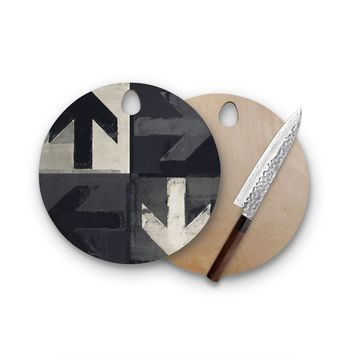 Arrows In Ever Direction Round Cutting Board Trendy Unique Home Decor Cheese Board