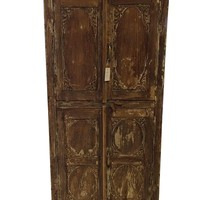 Chakra Cabinet Vintage Armoire Furniture Indian Almira Warm Teak Shabby Chic Decor