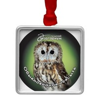 Symbol of wisdom round metal christmas ornament