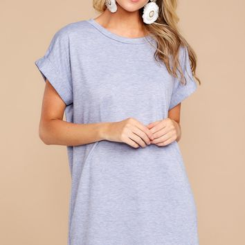 Casually Out And About Light Indigo Blue Dress