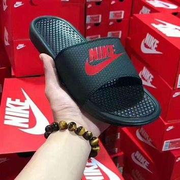 Nike Women Men Casual Fashion Sandal Slipper Shoes - Black H-CSXYQGCZDL-CY