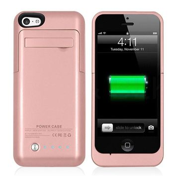 Lioeo External Battery Charger Case for iPhone 5s Battery Case for iPhone SE Backup Battery Charger Case for iPhone 5 Power Bank