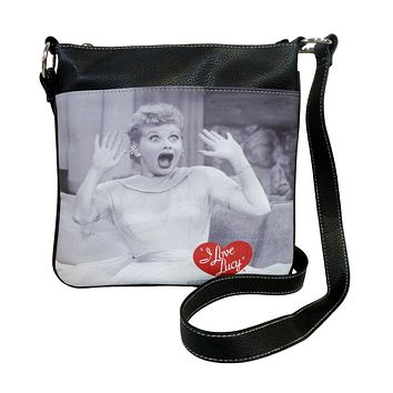 I Love Lucy Timeless Faux Leather Crossbody Handbag