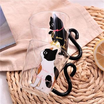 Cute Cat Coffee Mug With Tail