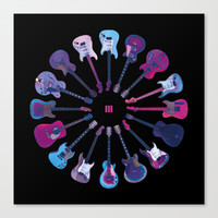 Music Circle Canvas Print by Matt Irving