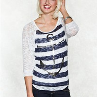 Spoiled Anchor Graphic Sweater