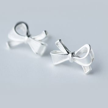 Sweet butterfly knot 925 sterling silver earrings, a perfect gift