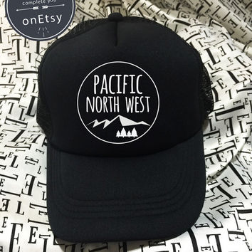 Pacific North Hats PWN Hats Funny Hats Hipster Hats Trucker Hat