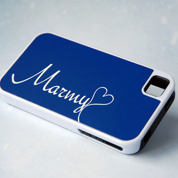 Personalized Monogrammed Cute Protective Royal Blue Phone Case, iPhone 4, 4s, 5, 5s, 5c, 6, 6+, Samsung Galaxy S4, S5 Case
