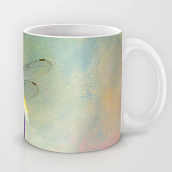 Say Hello To Spring - Dragonfly on Flower Mug by Jai Johnson