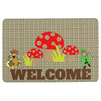 Mushrooms Floor Mat