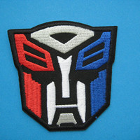 Iron-on Embroidered Patch Transformers Autobots 3 inch