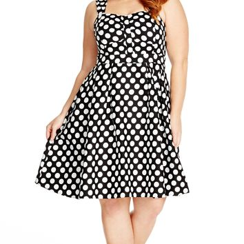 Plus Size So Spotty Dress - City Chic