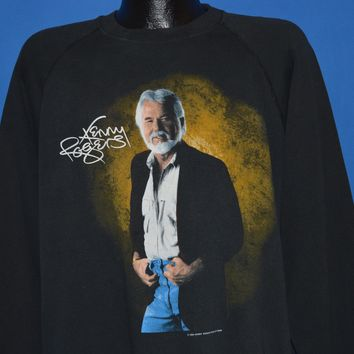 80s Kenny Rogers Country Singer Sweatshirt Large