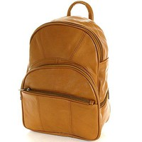 Leather Backpack Purse Mid Size & Convertible into single strap sling Bag or Backpack wearing Multiple Organizer Pockets