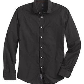 Dockers SF Poplin Shirt, Two-Ply - Black - Men's