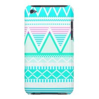 Bright Turquoise Tribal iPod Touch Case from Zazzle.com