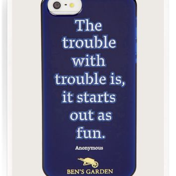The Trouble With Trouble iPhone 5/ 5s Case