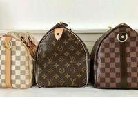LV Handbag Louis Vitton Shoulder Bag Trending Unisex Tartan Print Travel Luggage Bag Three Color