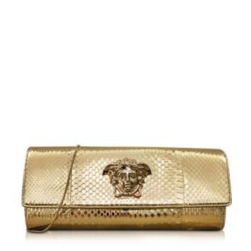 Versace Designer Handbags Palazzo Golden Ayers Evening Clutch
