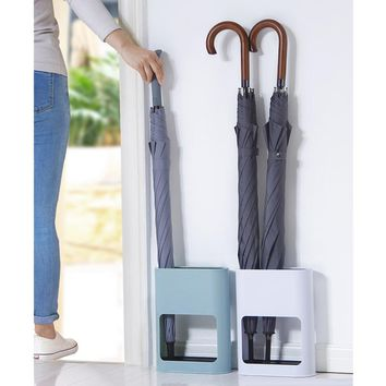 Umbrella Stand Rack Free Standing Organizer with Drip Tray for Hallway Entryway Office