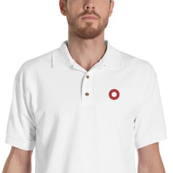 PH Red Circle Donut Embroidered Polo Shirt