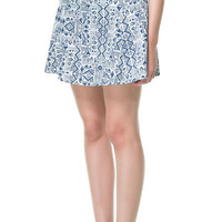 FULL PRINTED MINI SKIRT - Skirts - TRF | ZARA United Kingdom