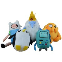Adventure Time Toy Pelucia Anime Movie Family Ice King Penguins Beemo Game Console BMO Soft Plush Toys Stuffed Animals Cartoon