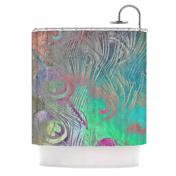 "Alison Coxon "" Indian Summer"" Purple Teal Abstract Shower Curtain"