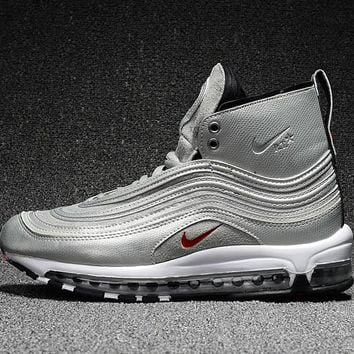 Best Deal Online Riccardo Tisci RT x Nike Air Max 97 Mid Men Sports Shoes Silver White