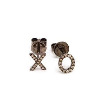 ROSA DE LA CRUZ | 18k Gold and Diamond XO Earrings | Womenswear | Browns Fashion