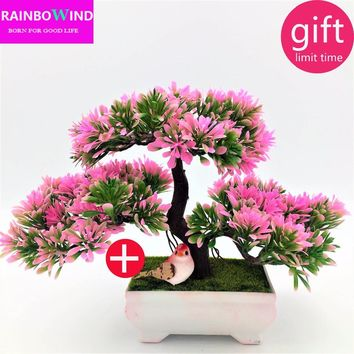 Decorative flowers and wreaths Artificial Flowers Fake Green Pot Plants Home Decor