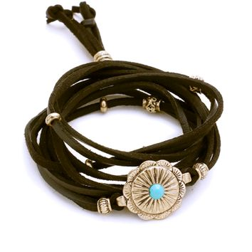 Wanderer Antique Metal Wrap Bracelet