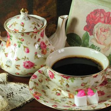 ELIZABETH PARK CHINTZ TEA FOR ONE - Chintz Porcelain Teacup & Teapot