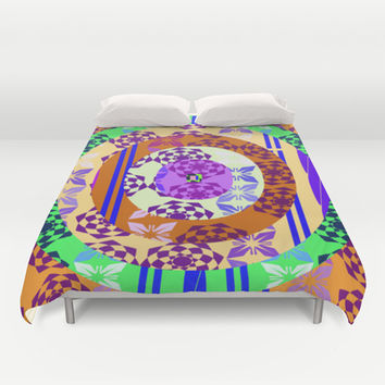 Oval patchwork Duvet Cover by LoRo  Art & Pictures