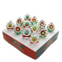Shiny Brite HS DECORATED ROUNDS ORNAMENTS Holiday Splendor Christmas 4027561